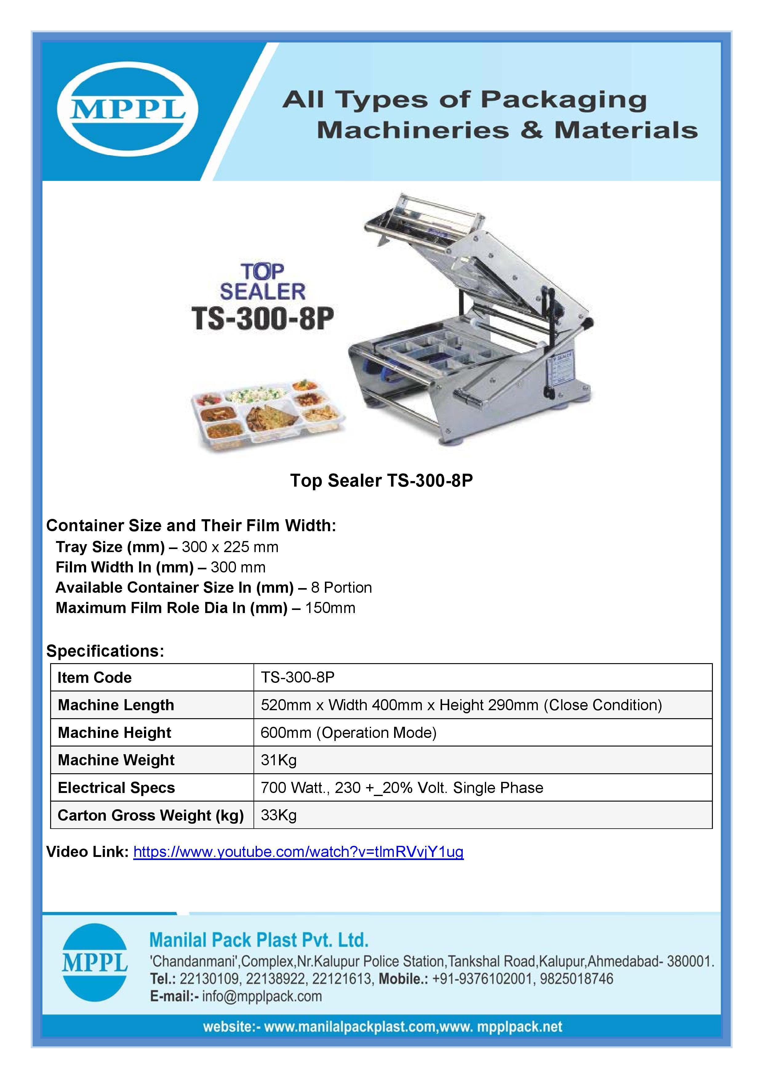 Top Sealer TS-300-8P