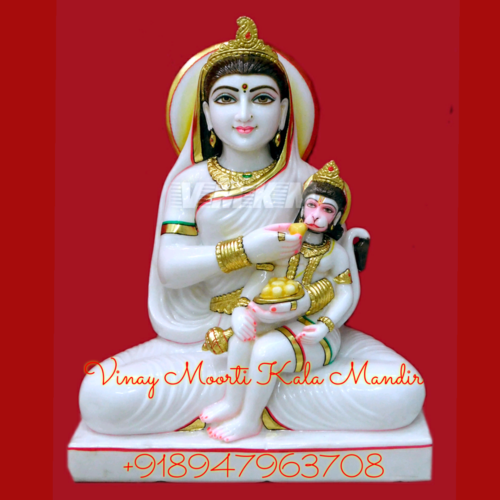 Bal Hanuman Marble Statue