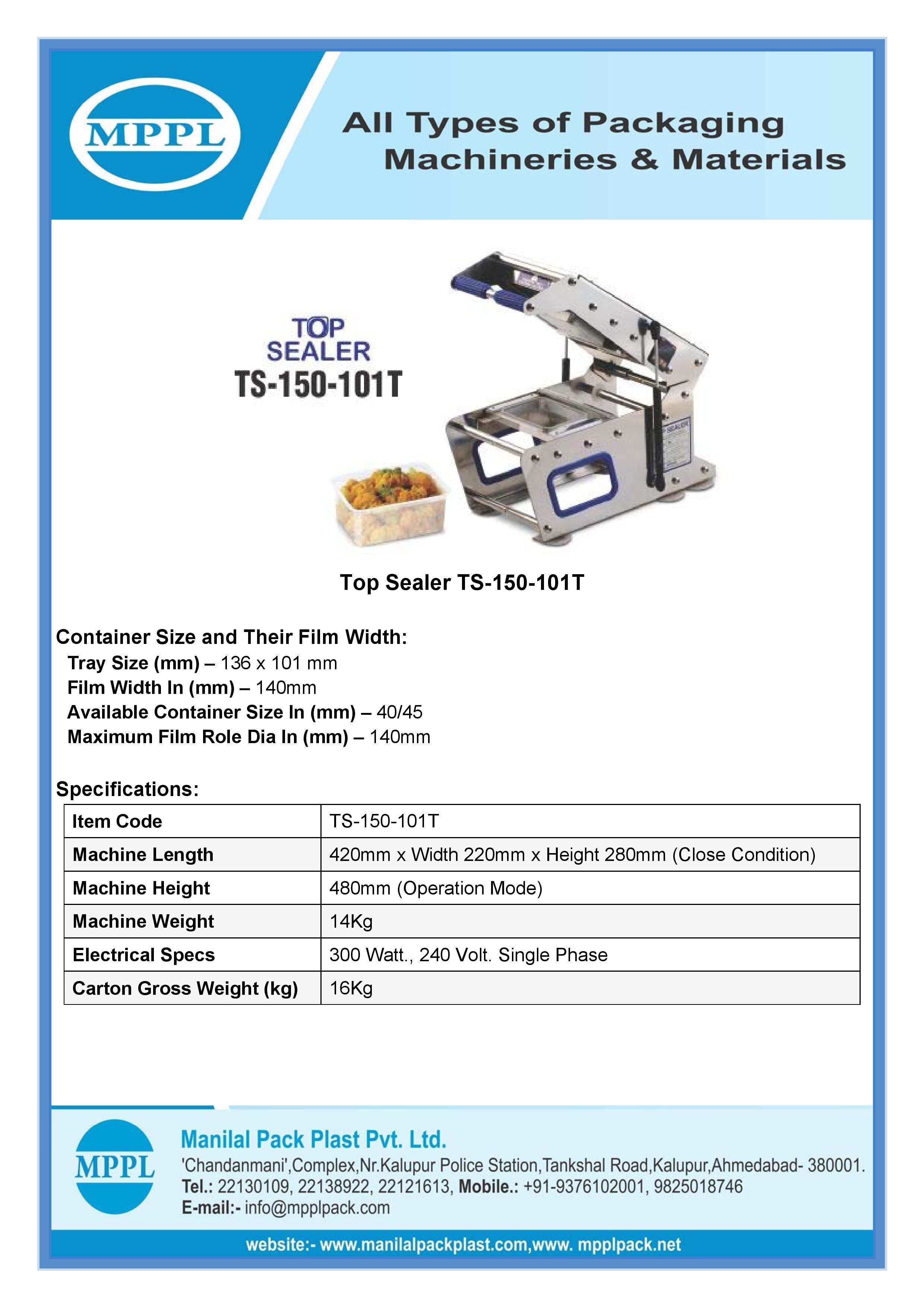 Top Sealer TS-150-101T