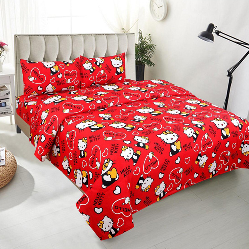 Cartoon  Printed Cotton Bedsheet