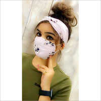 Fancy Face Mask With Scarf