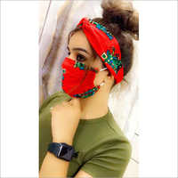 Designer Face Mask With Scarf