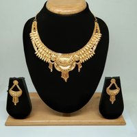 Attractive Simple Gold plating Necklace set