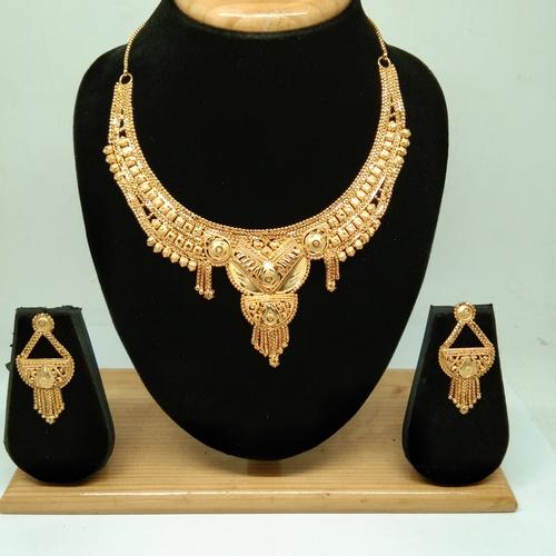 Simple Golden color Necklace Set