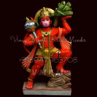 Veer Hanuman White Marble Statue
