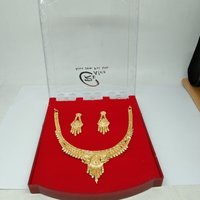 Simple Indian Style Attractive Gold Plated Necklace set