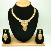 Beautiful Fancy Design Gold Necklace Set for women&Girls
