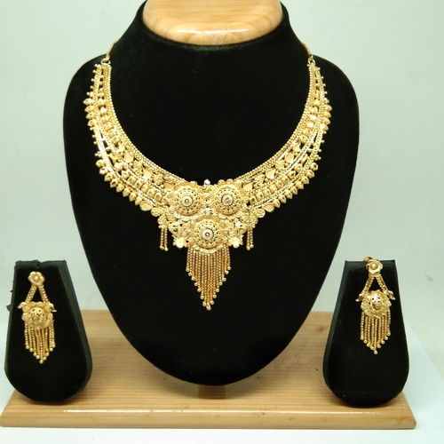 Gold Forming necklace set for women&girls