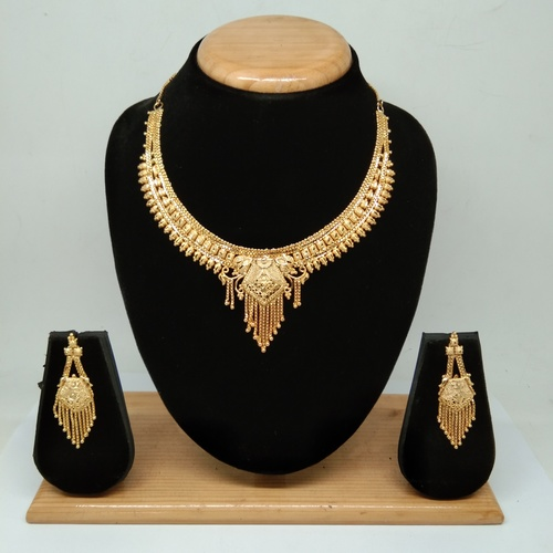 wedding&party wear gold plated forming necklace set