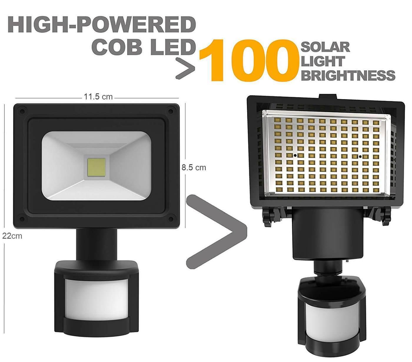 SOLAR 5W COB LED MOTION SENSOR SECURITY LAMP