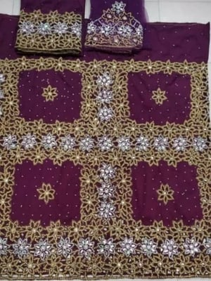 Heavy Beaded Attractive Design Wrapper with Blouse