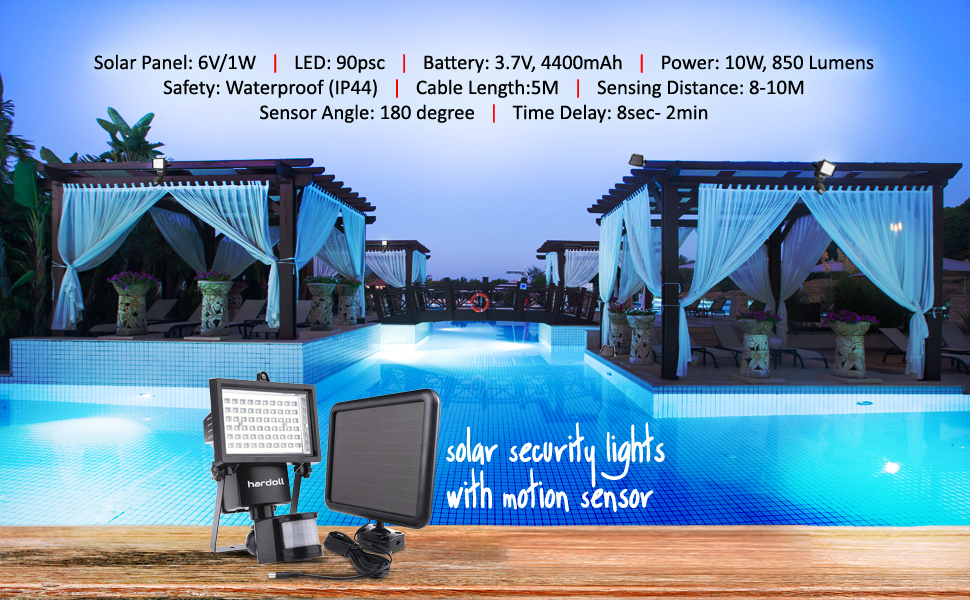 90 LED Solar Motion Sensor Lamp