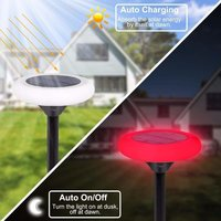 Solar Decorative Disk Shaped LED Light