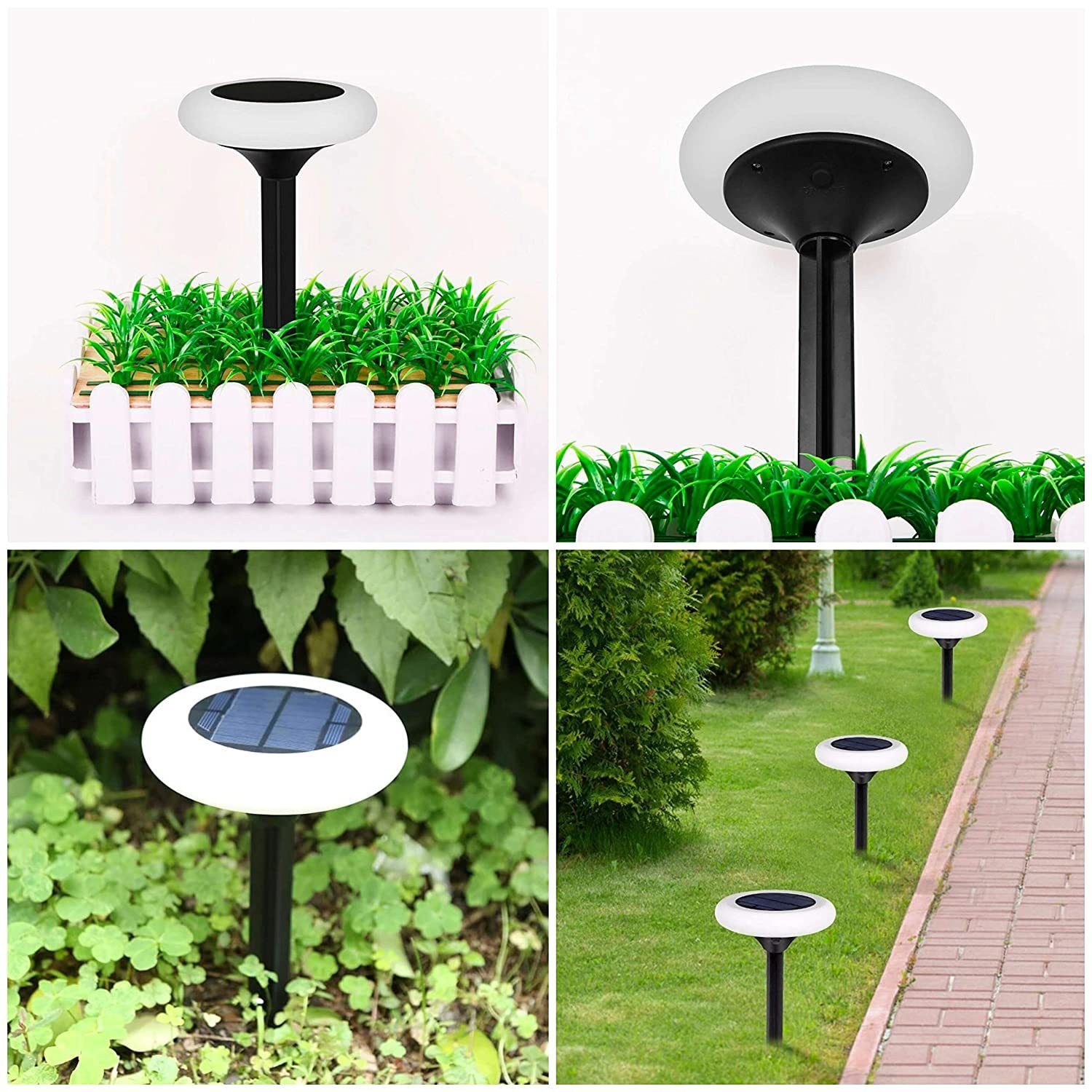 Solar Decorative Disk Shaped LED Lamp