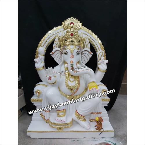 White Marble Ganesh Ji Statue