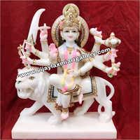 White Marble Durga Mata Statue