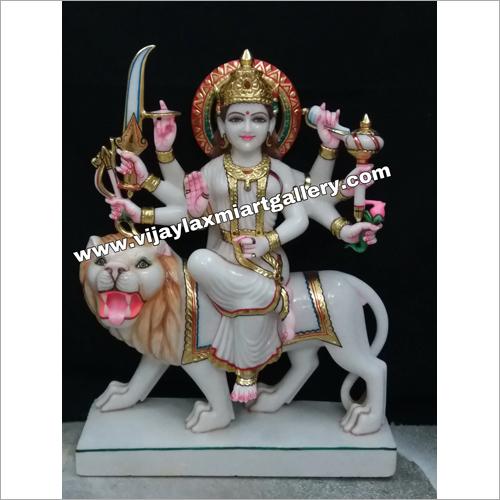 Polished Marble Durga Mata Statue