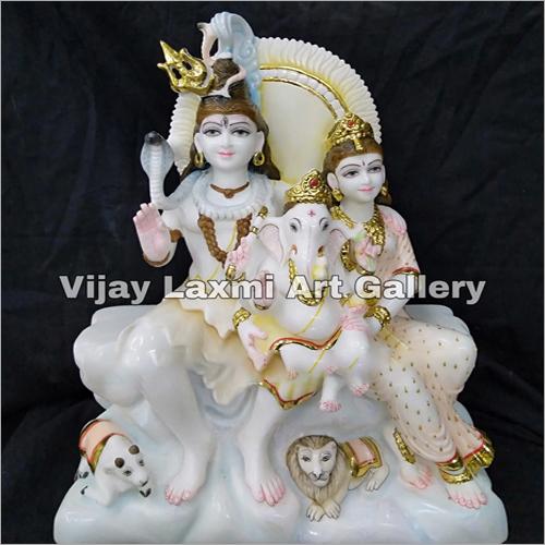 Shiv Parvati With Ganesh Statue