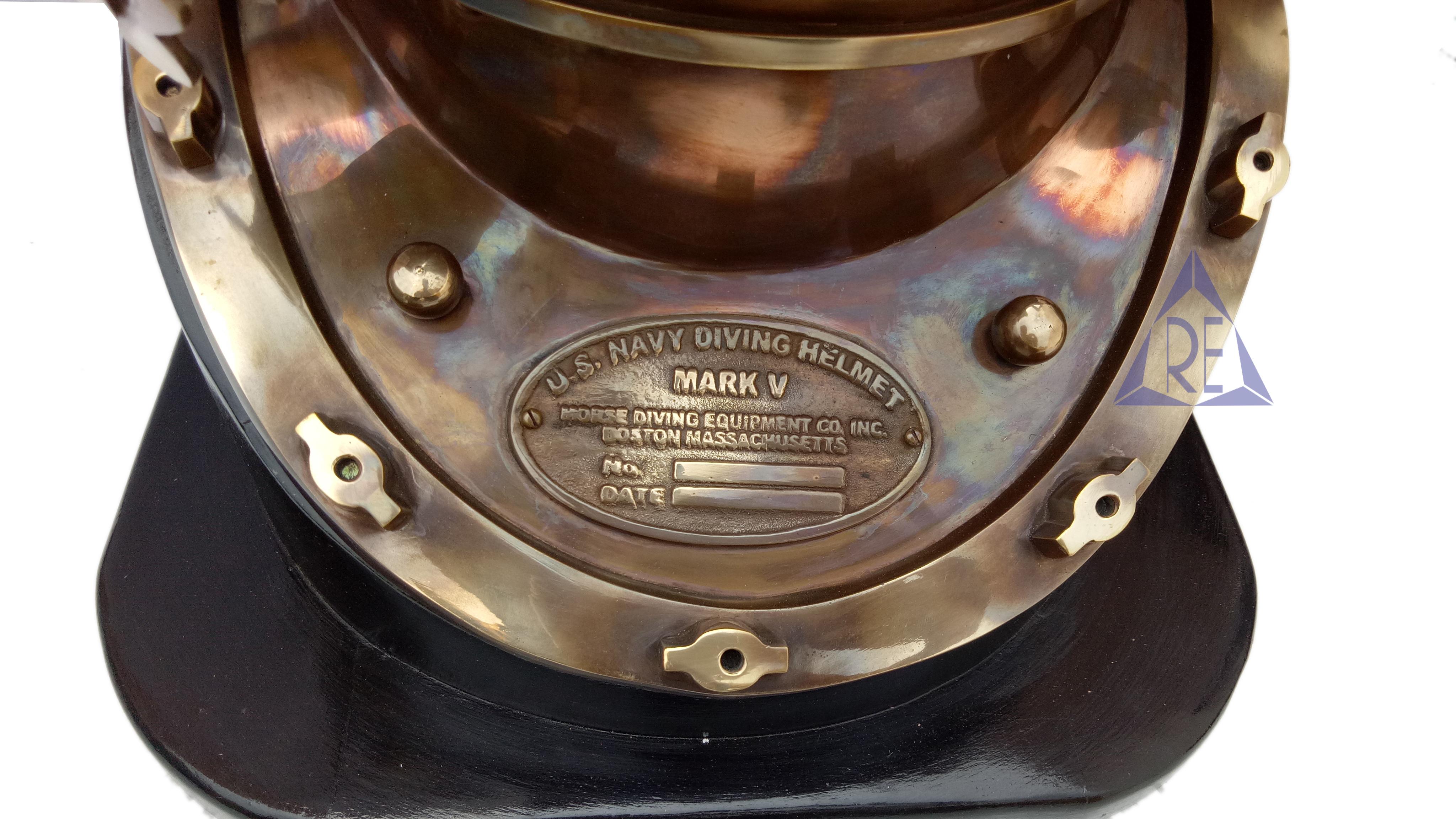 Antique Nautical Vintage Decor Mark V Diving/Divers Helmet with Base