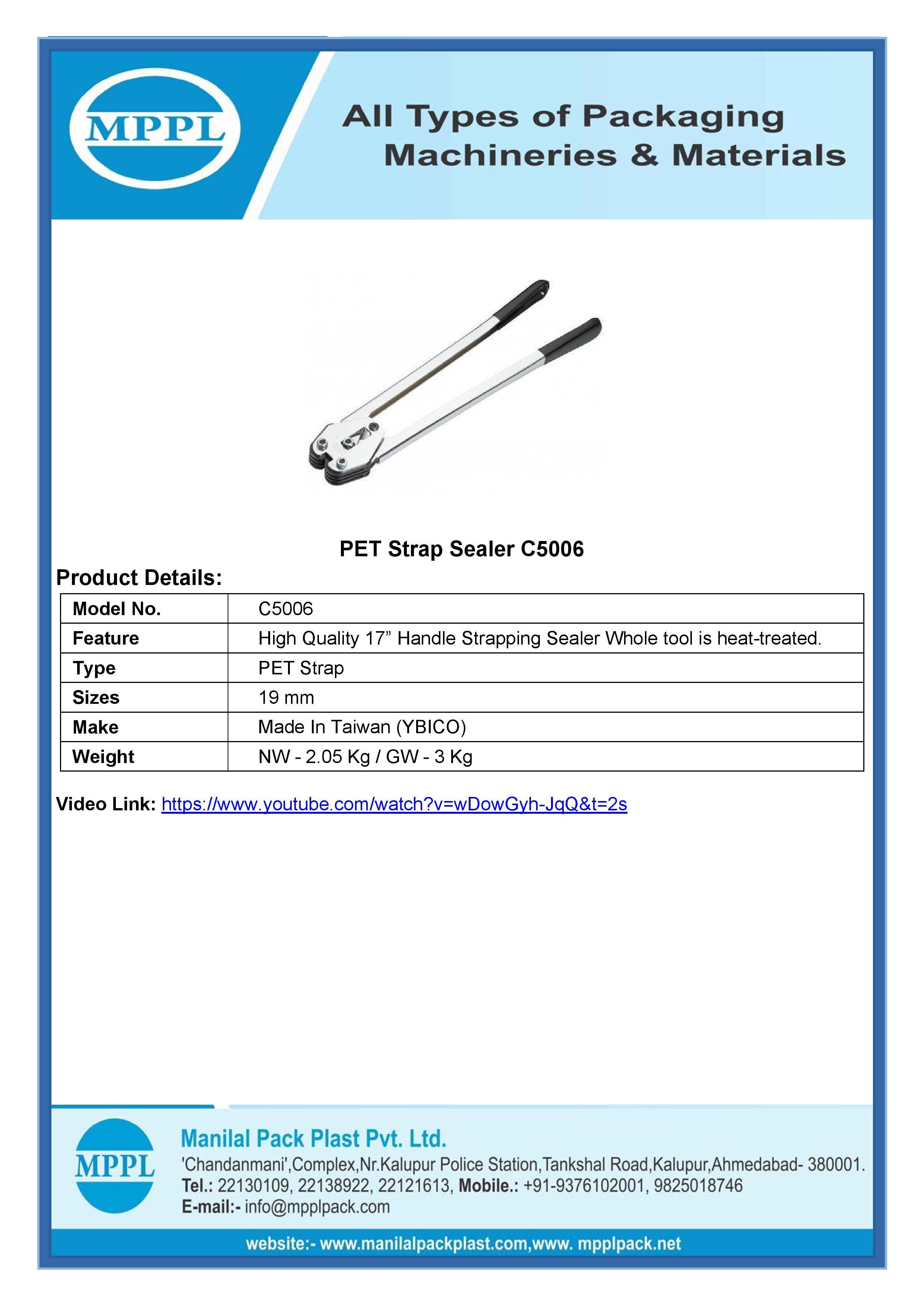 PET Strap Sealer C5006