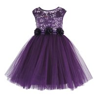 Kids Sequin Embellished Purple Party Wear Frock