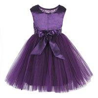 Kids Sequin Embellished Purple Party Wear Frock
