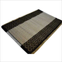 White/Black Natural Straw Place Mat