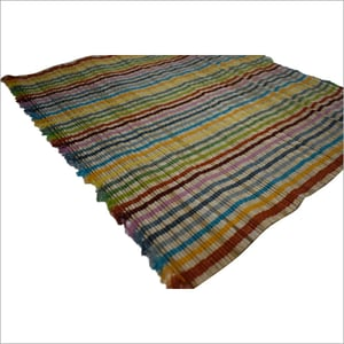Multicolor Stripes Straw Mat
