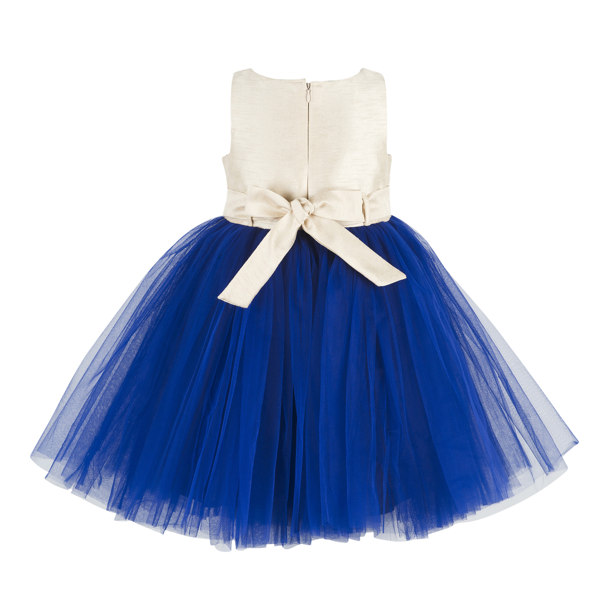 Kids Embroidered Blue Party Wear Frock