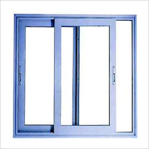 Blue Aluminium Sliding Window