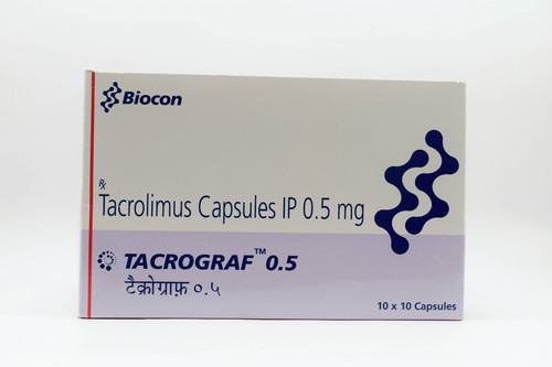 Tacrograf 0.5mg Tacrolimus Capsule