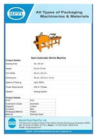 Semi Automatic Shrink Machine (Pto)