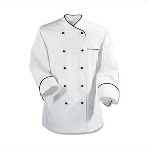 Chef Coat White With Pipene Cuff