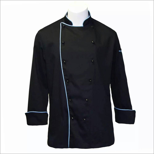 Hotel Restaurant Chef Coat Black With Pipene