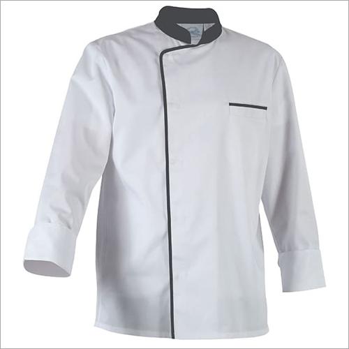 Hotel Restaurant Chef Coat White With Black Pipene Gender: Unisex