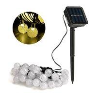 Solar Crystal Ball Shaped Decorative Waterproof  String Light