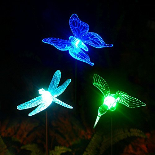Solar Bird Decorative Stake Lights (Pack of 3)