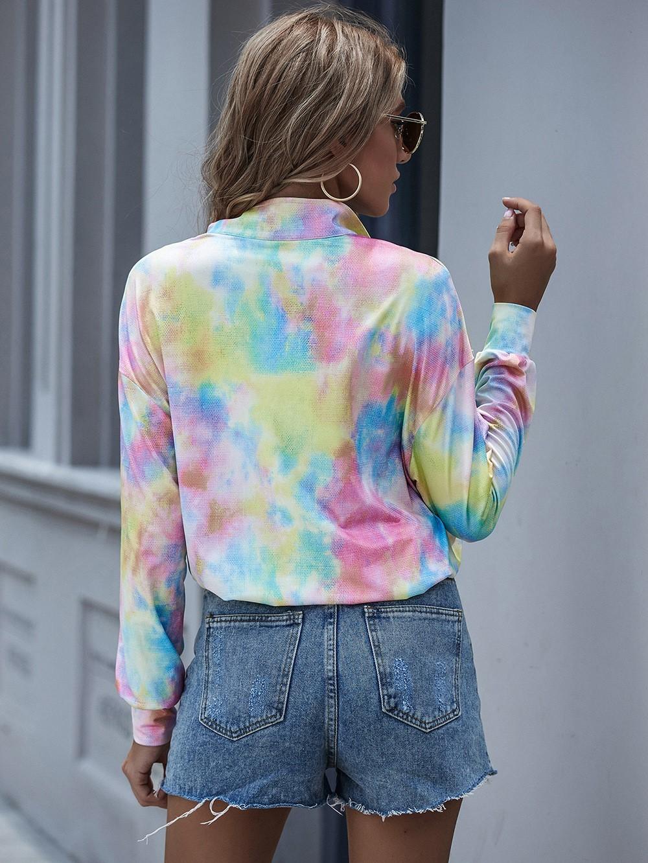 Tye Dye Long Sleeve Women Sweatshirts