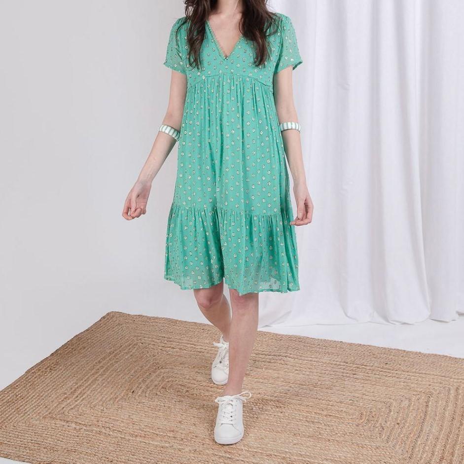Short dress with golden dots Flore