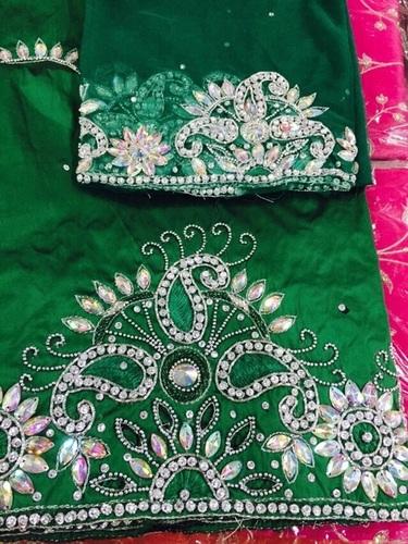 Luxury Beaded African Asobie Wedding Fabric Indian George Wrapper