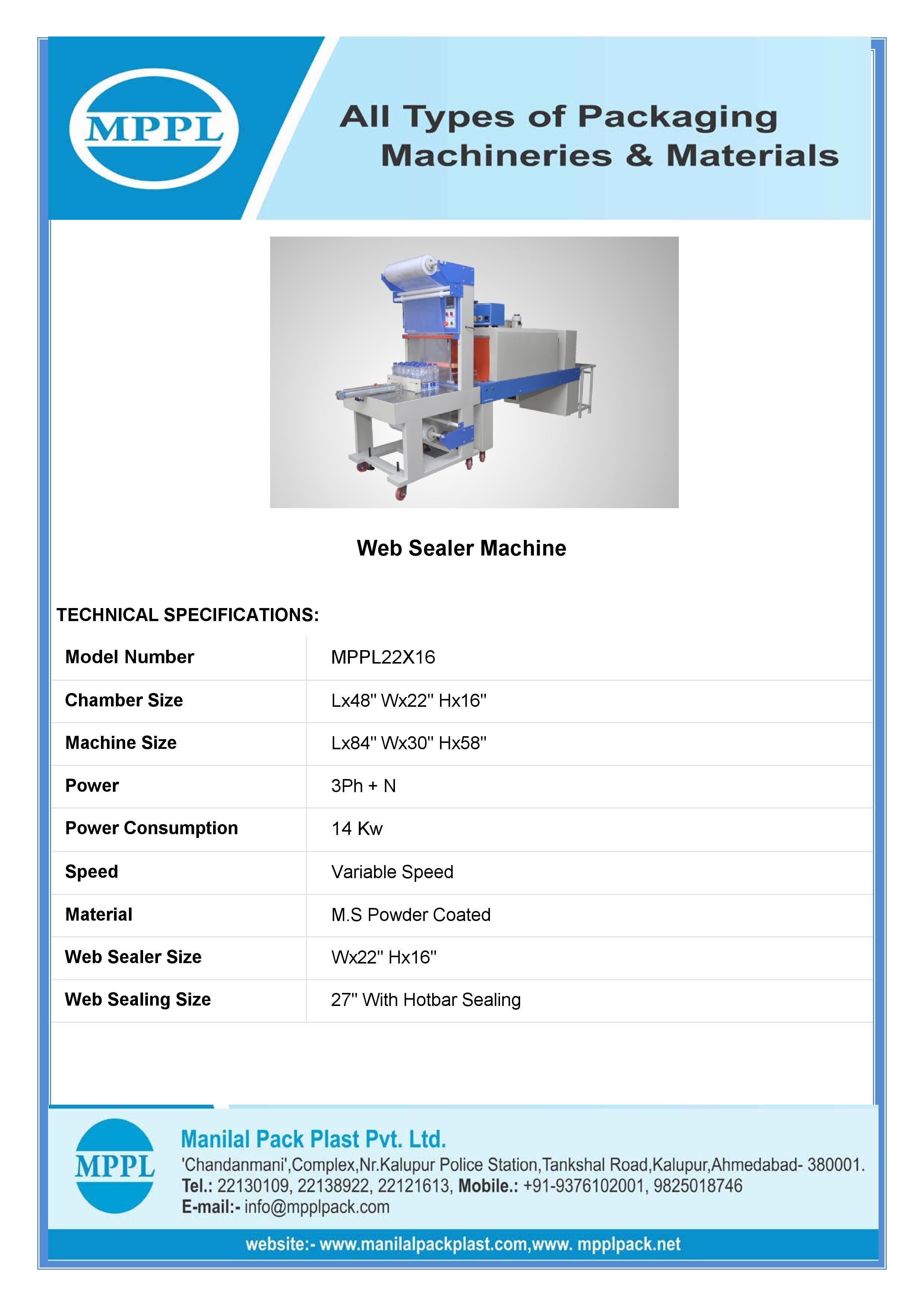 Web Sealer Shrink Machine