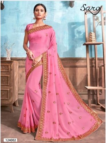 Beautiful Chiffon Dyed Saree
