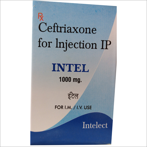 1000 MG Ceftriaxone For Injection IP