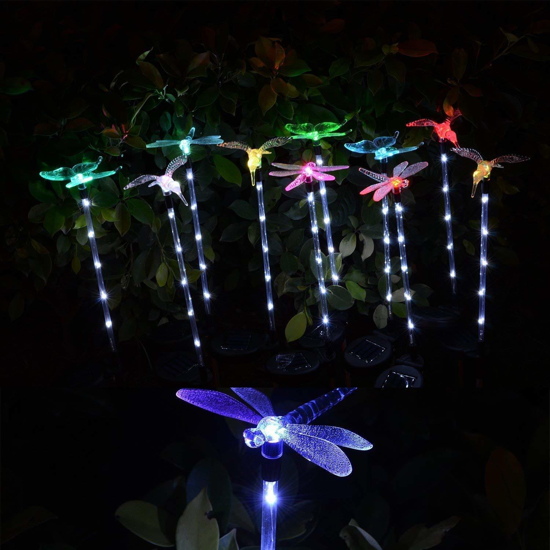 Solar Garden Decoration Stake Lights ( Set of 3)