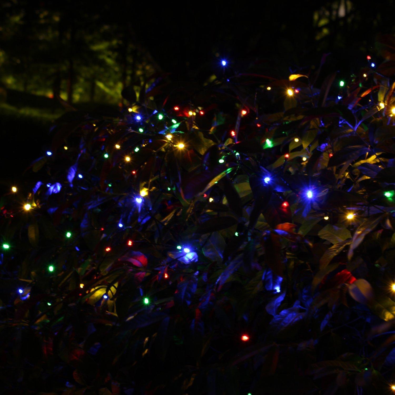 Solar 200 LED Multicolor Decorative String Lights