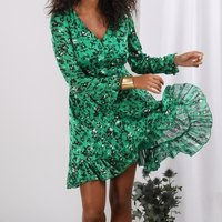 long sleeve short dress for ladies