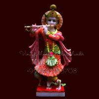 Multicolor Marble Krishna Statue