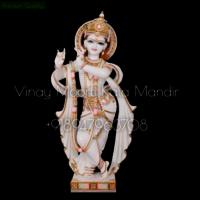 White Marble Krishna Statue