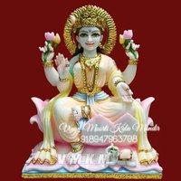 White Marble Lakshmi Statue