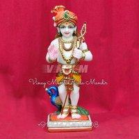 Marble Murugan Swamy Statue